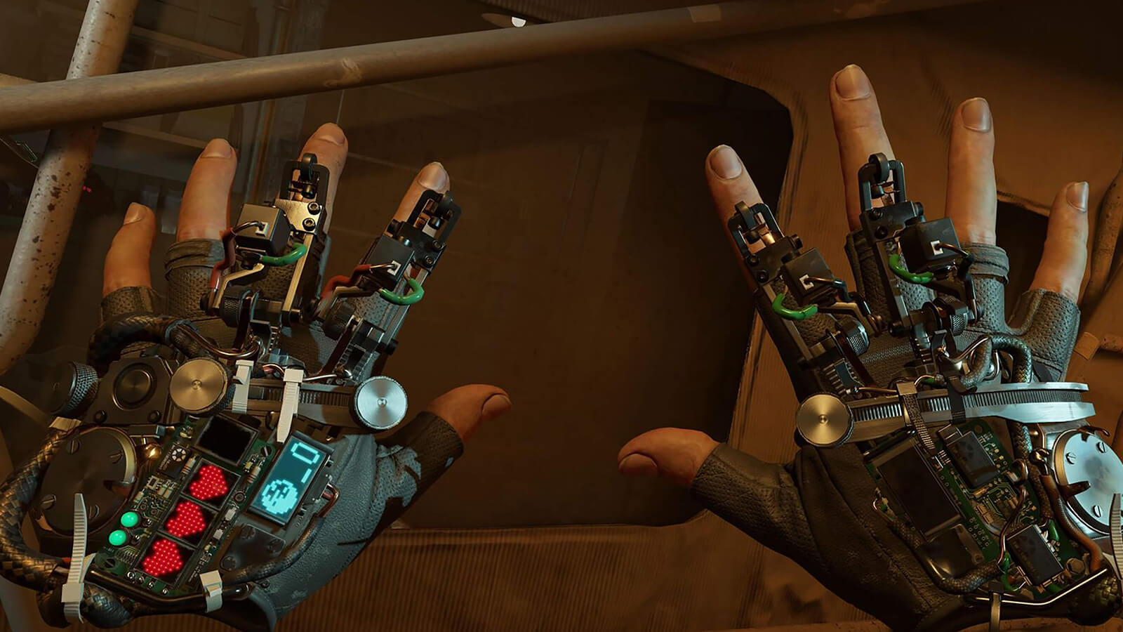 Game screenshot of the 'gravity gloves' device