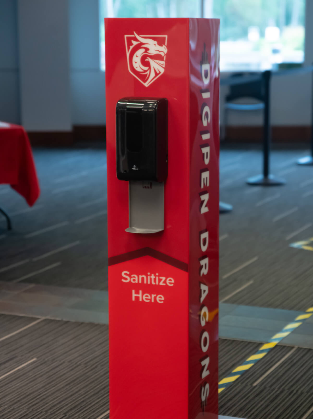 DigiPen campus hand sanitizer station