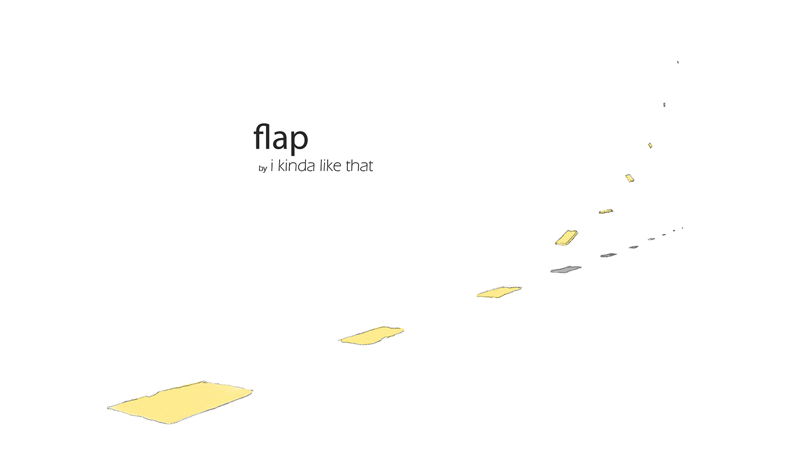 Title page for Flap by i kinda like that.