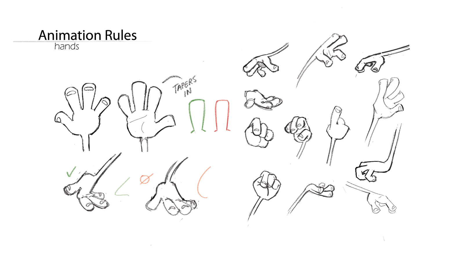 Animation rules for character's hands in Flap.