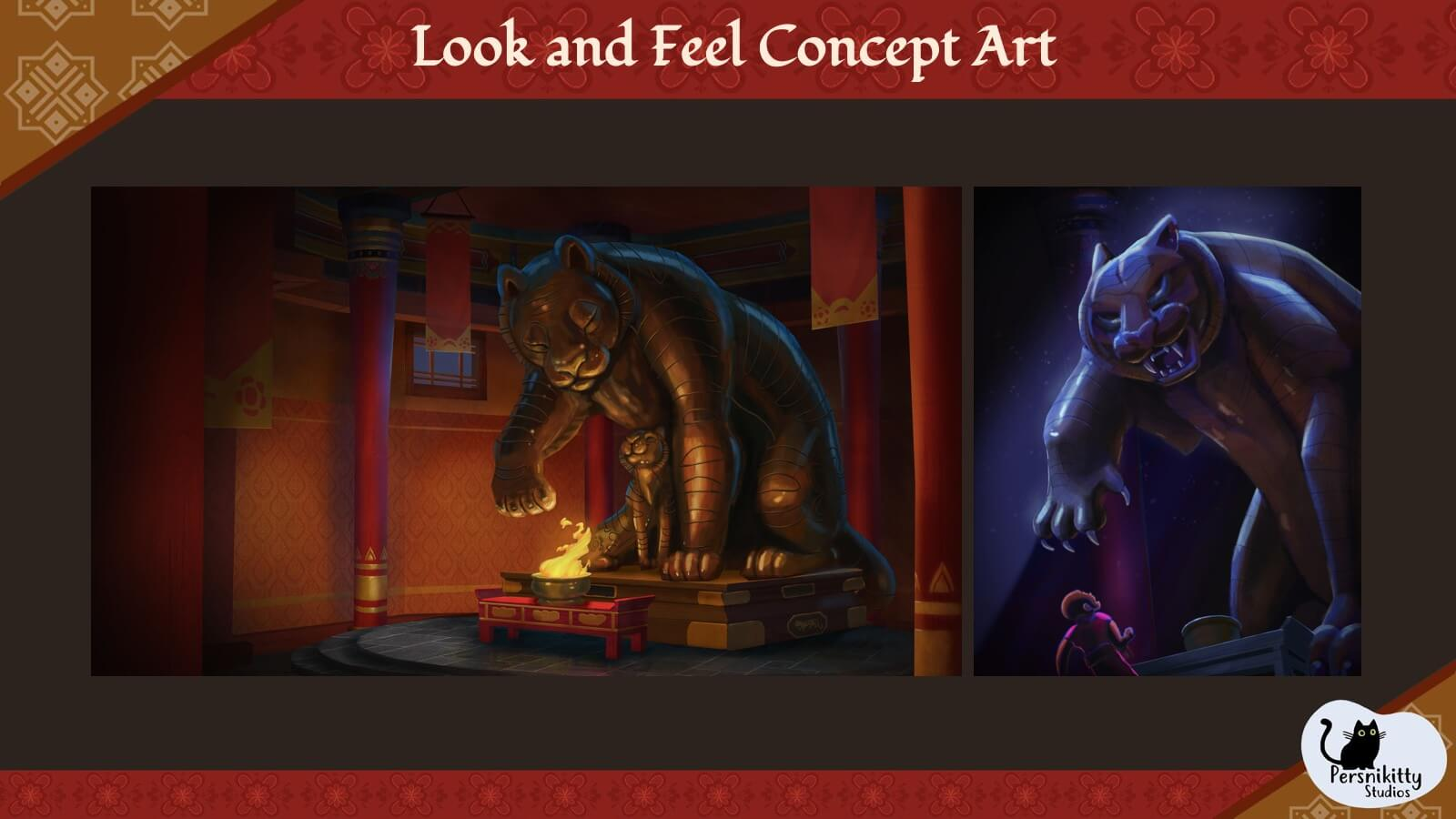 "A slide of ""look and feel"" concept art from the film."