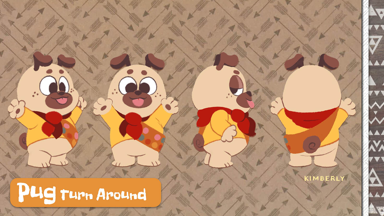 Turnaround of the character Pug.