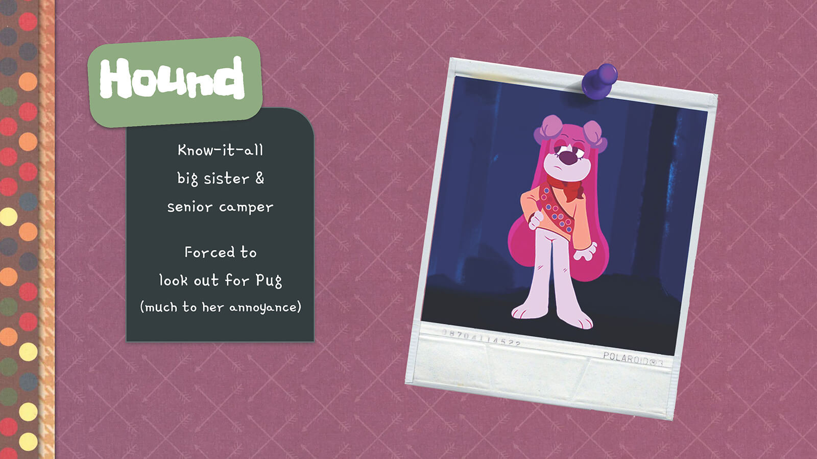 Description and look of the character Hound.