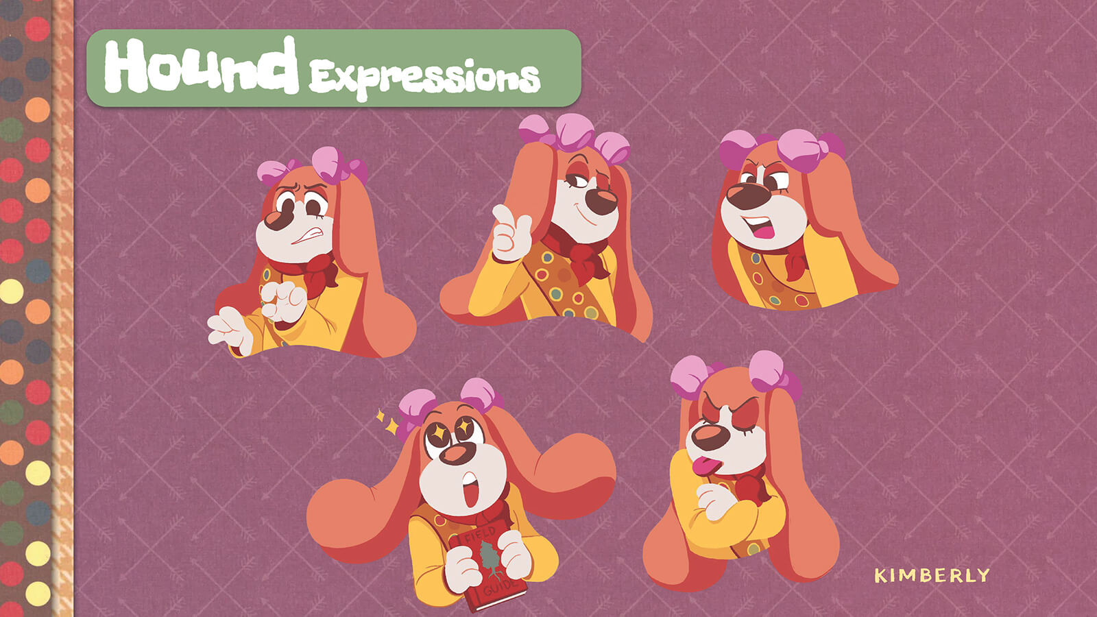 Facial expressions of the character Hound.
