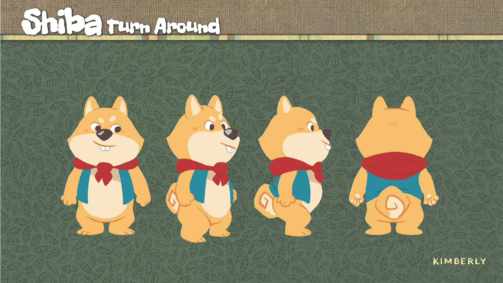 Turnaround of the character Shiba.