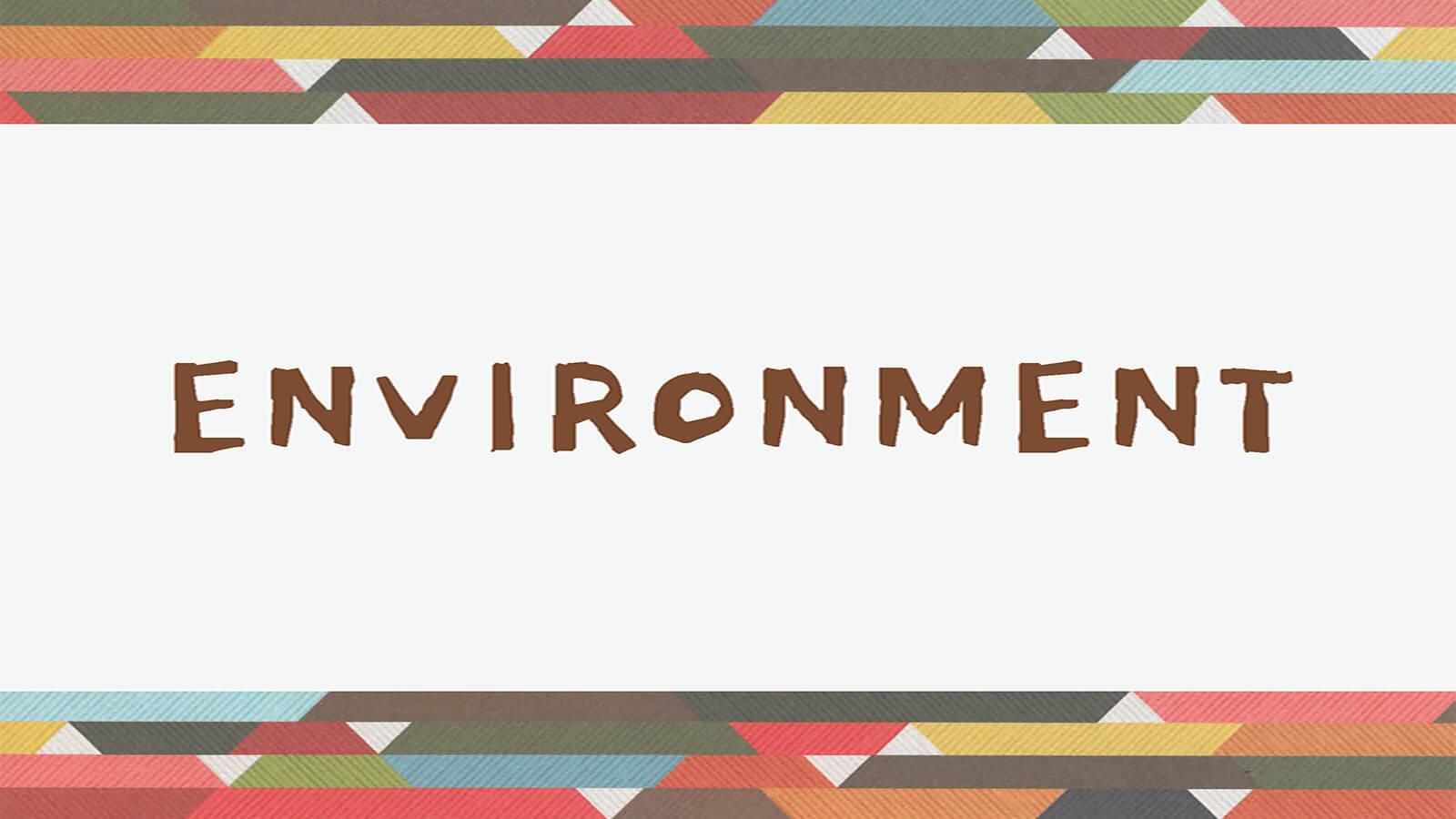 """Slide reading """"Environment"""""""