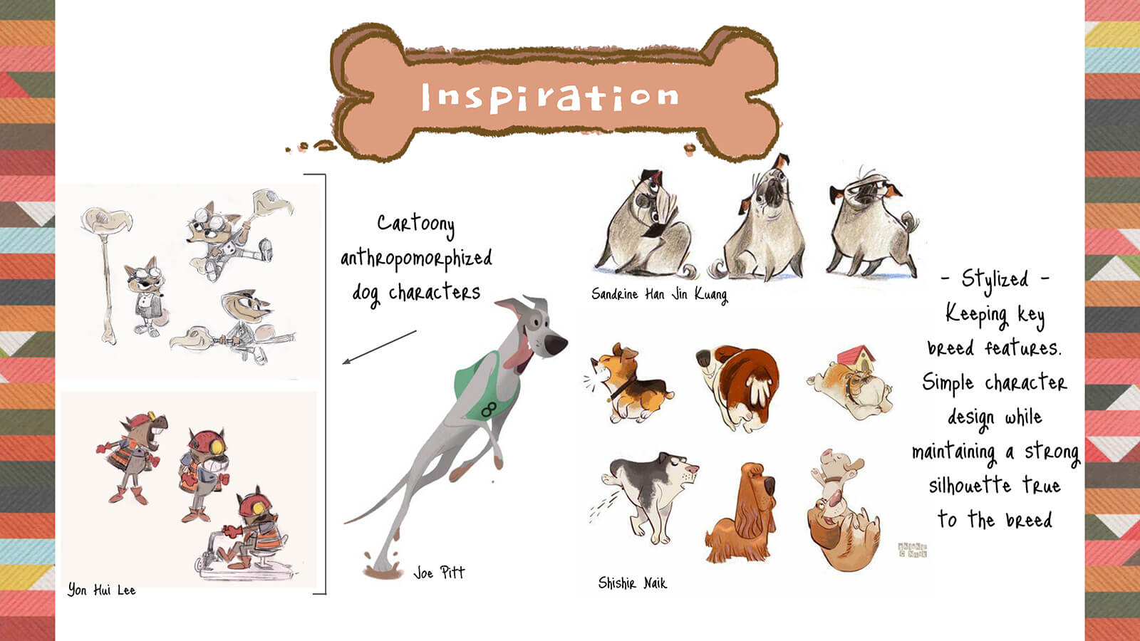 Character design inspirations for the dogs in PrePAWsterous