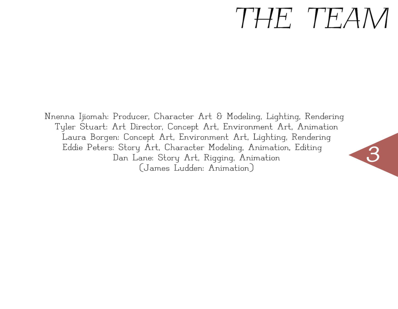 Additional credits slide for the film Super Secret in black font on a white background
