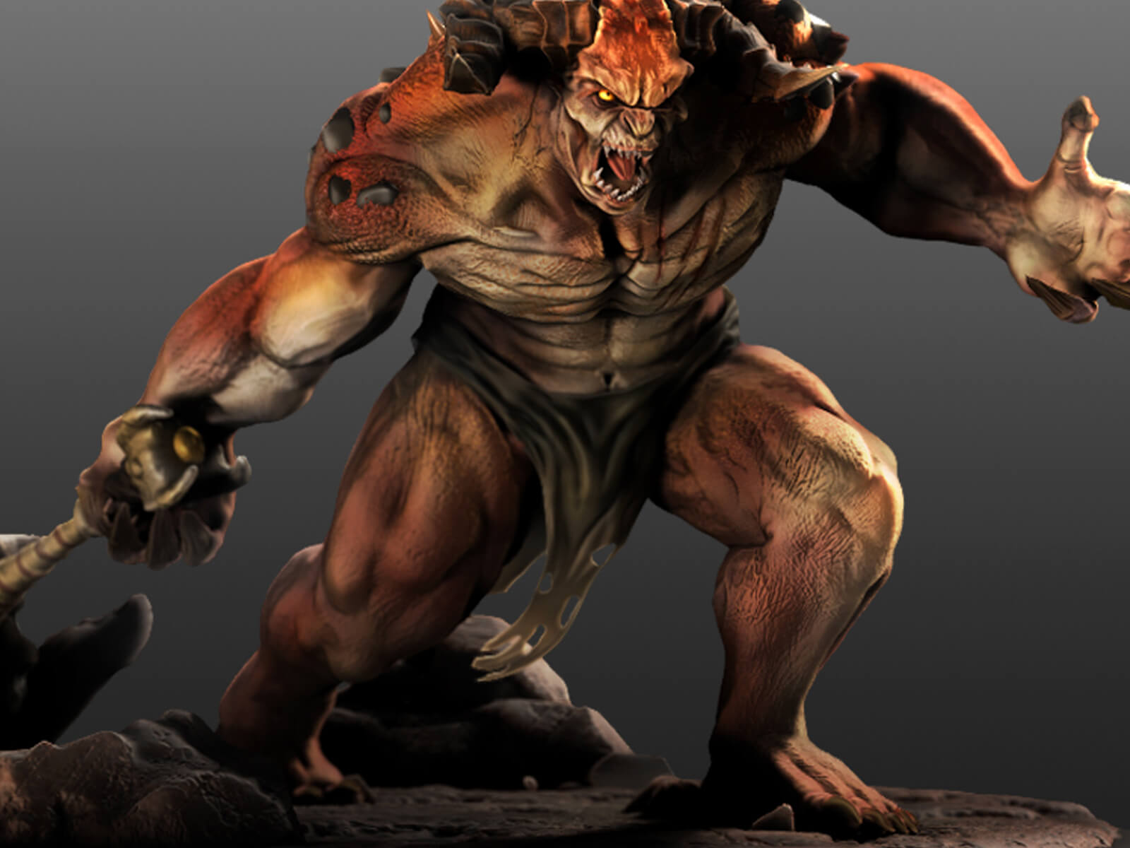 3D model of a giant ogre character