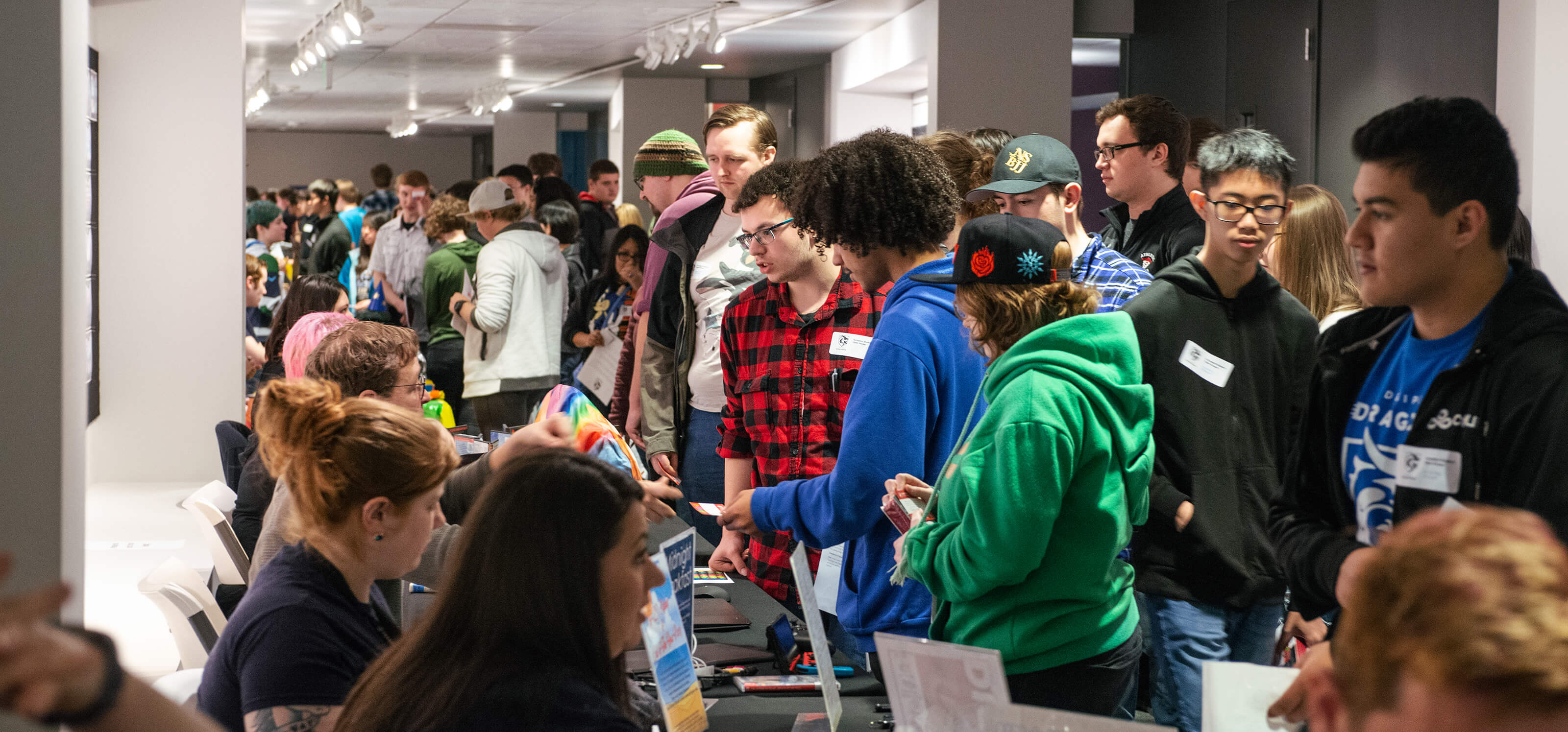 Students gather for the annual DigiPen Club Fair
