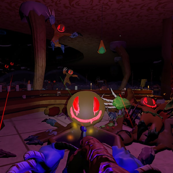 Zombie gingerbread men ganging up on the player