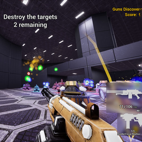 Deadly robots swarm the player
