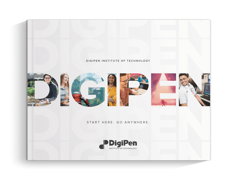 An image of DigiPen's viewbook