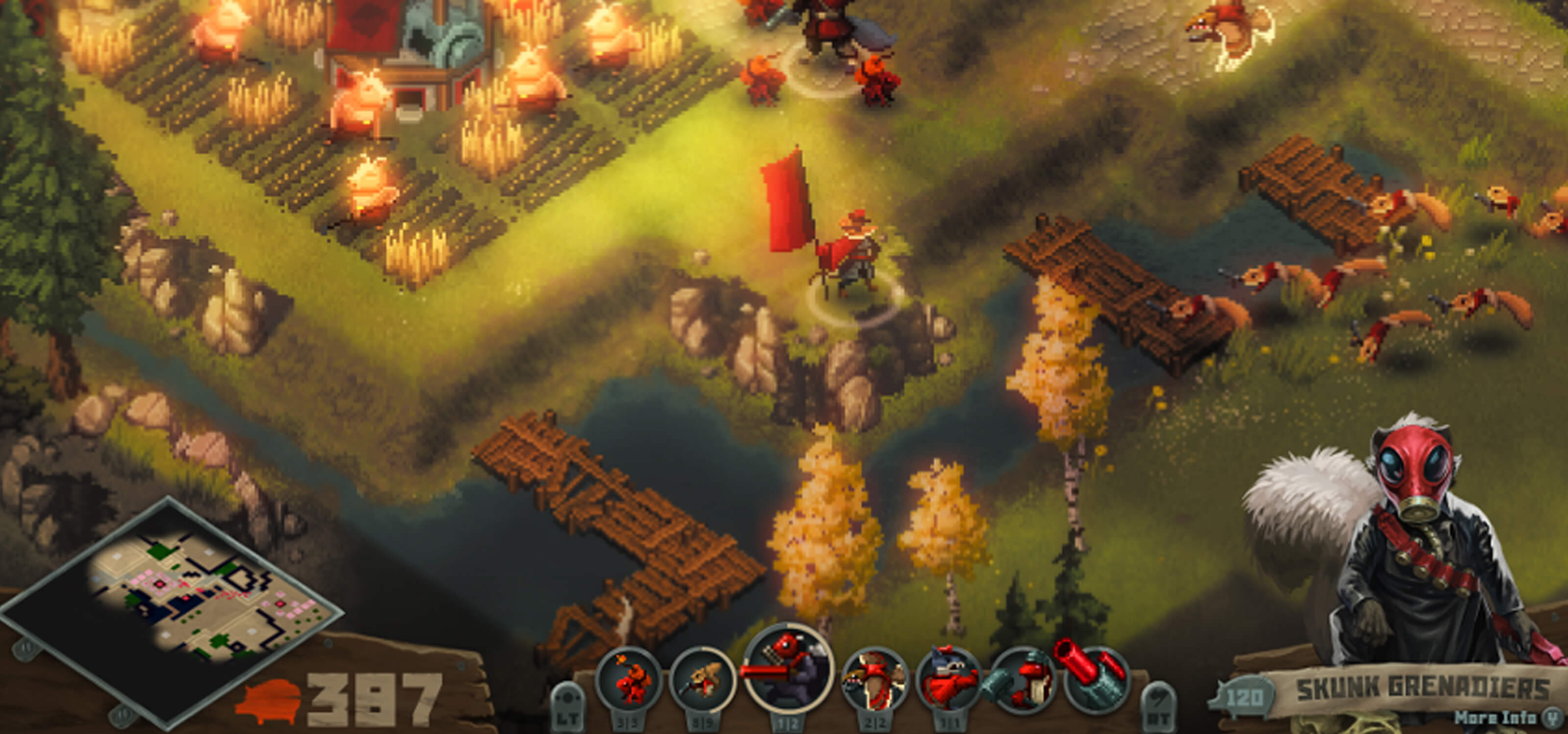 Screenshot of gameplay from Tooth and Tail