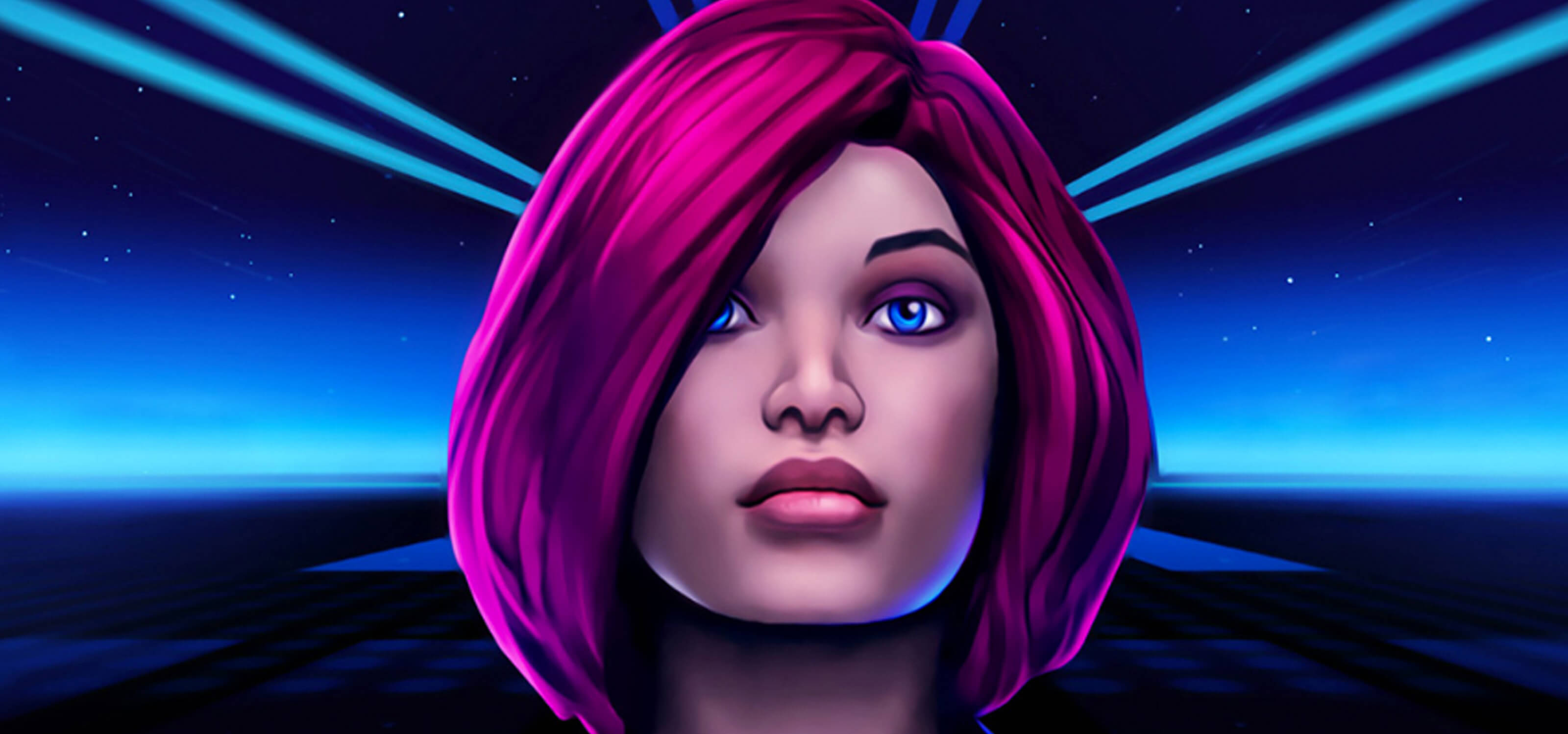 Screenshot from GrooVR featuring a pink-haired female character