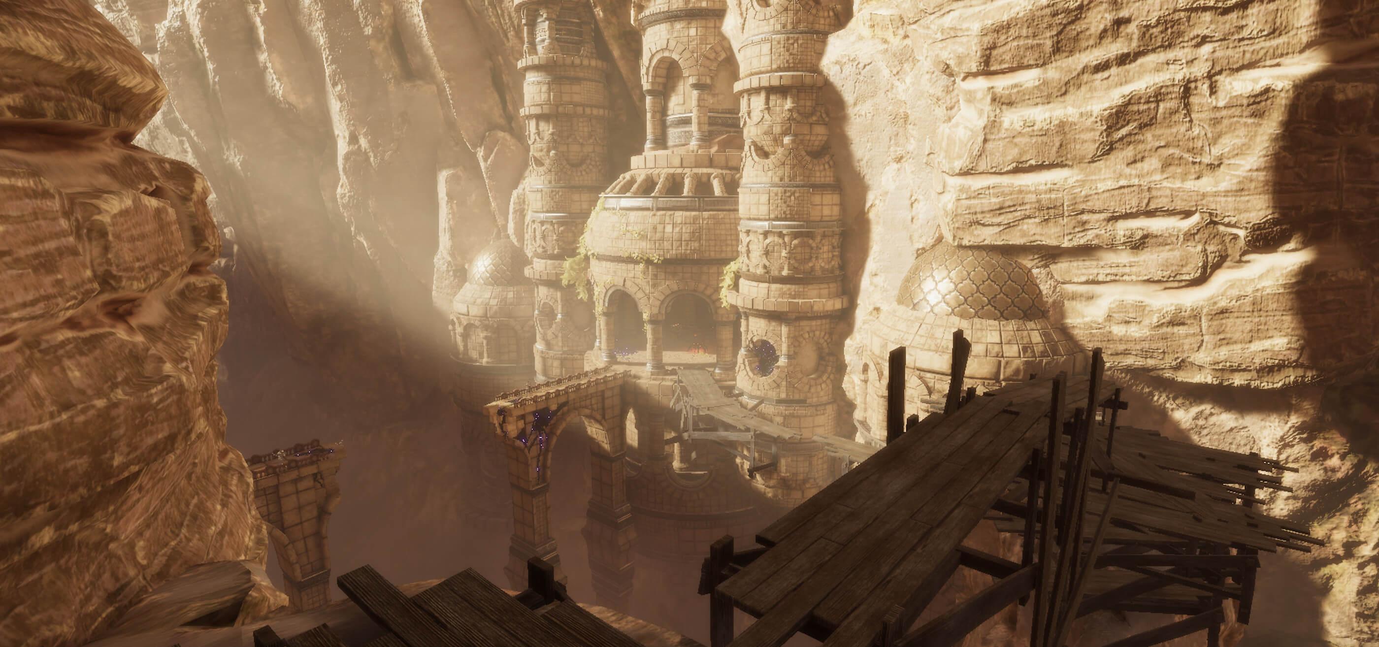 Desert canyon ruins
