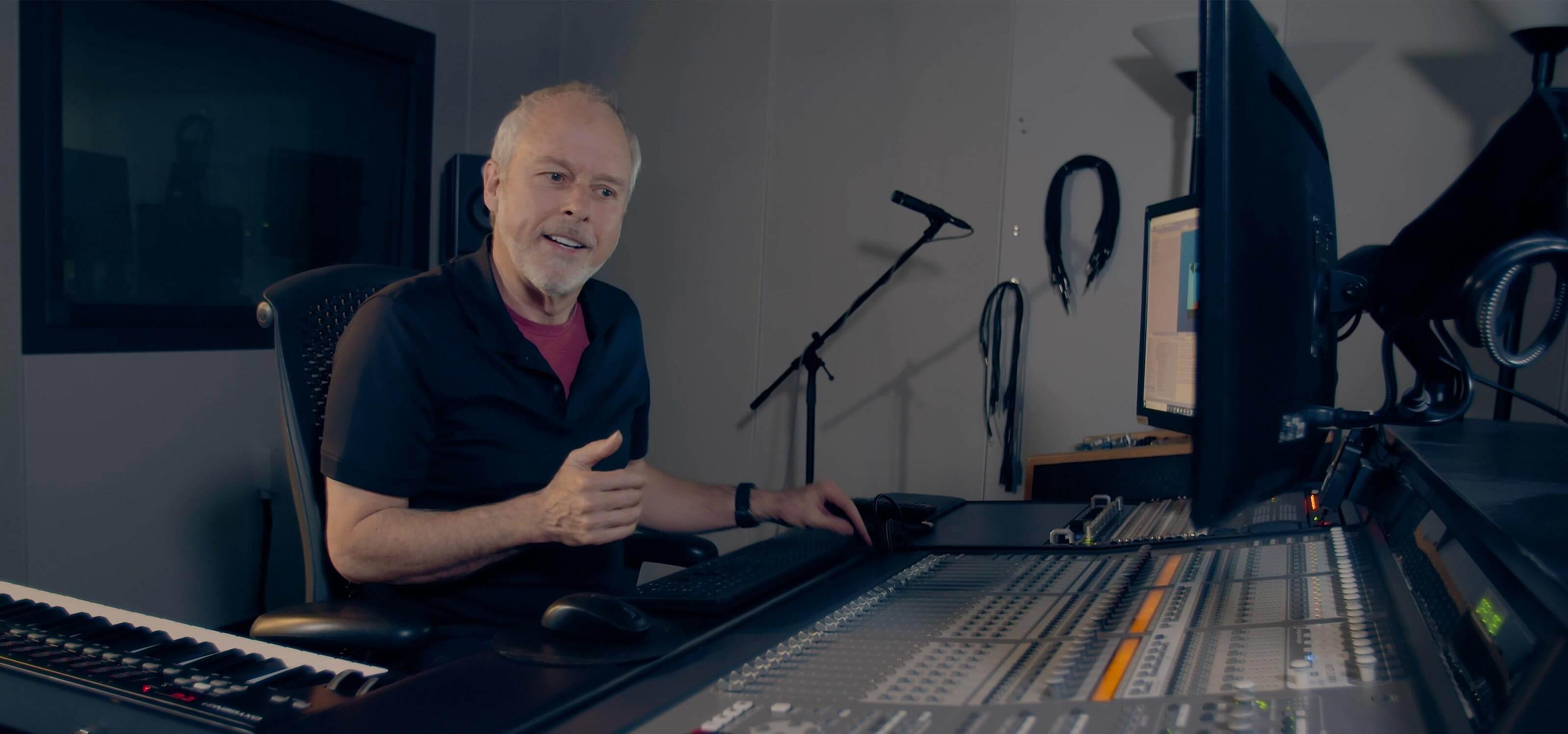 Lawrence Schwedler in the audio studio