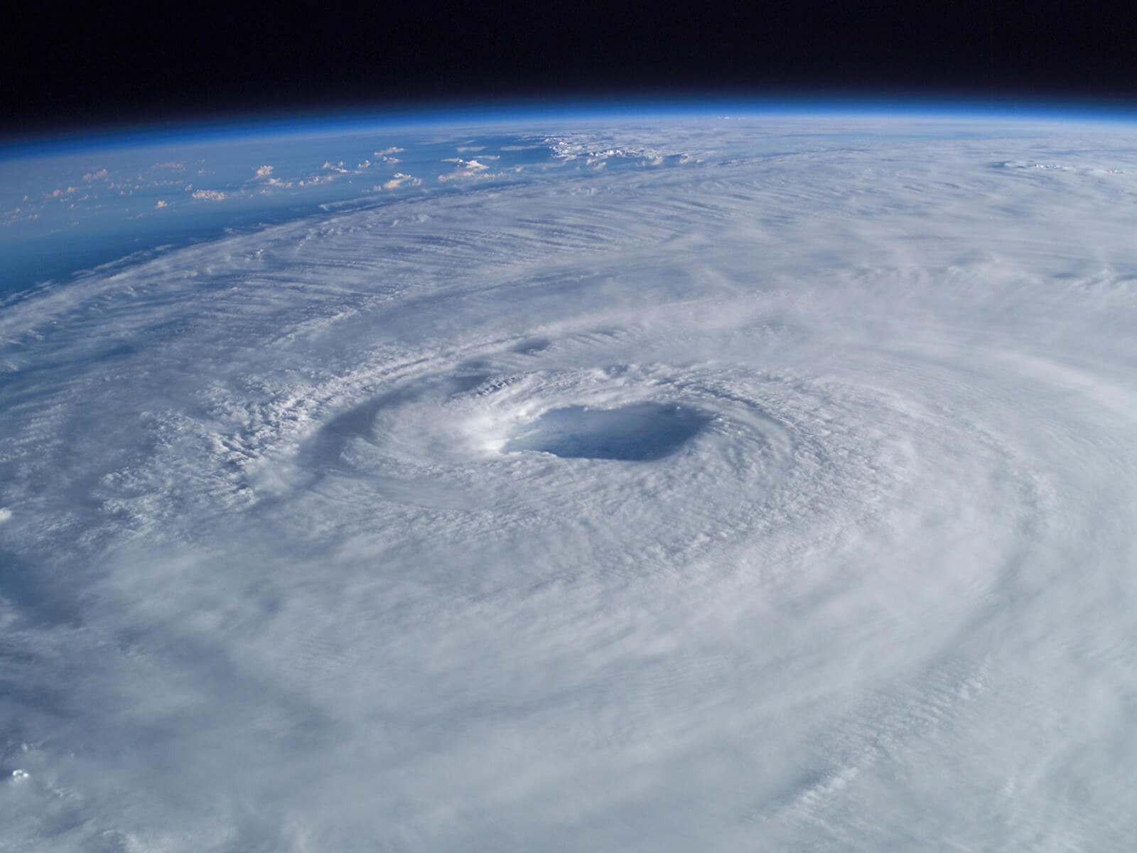 Arial view of a tropical cyclone