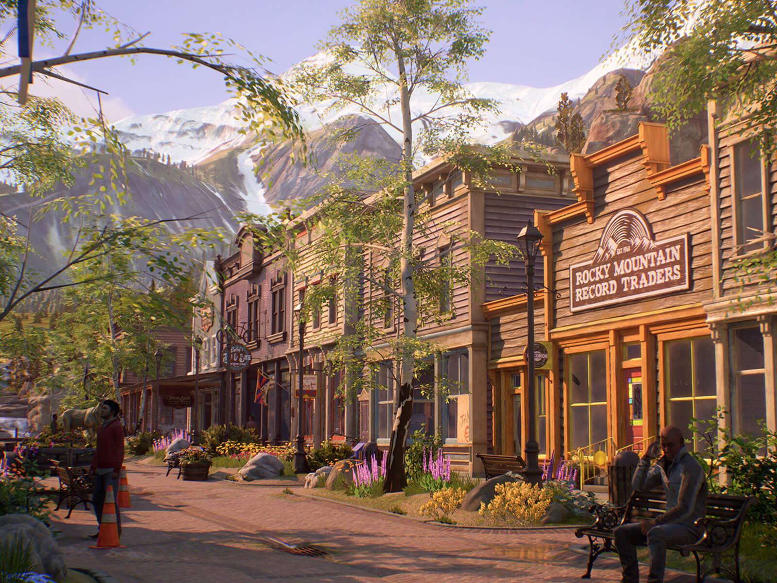 Main Street in Haven Springs, Colorado, the fictional setting of Life Is Strange: True Colors.