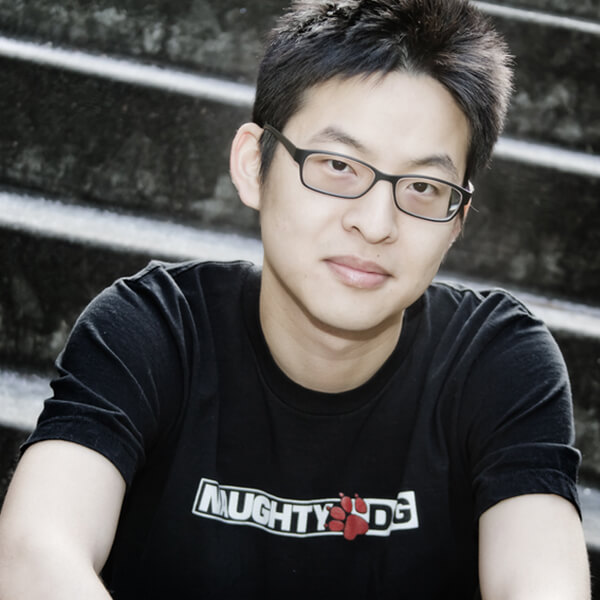 "Ming-Lun ""Allen"" Chou in a Naughty Dog t-shirt"