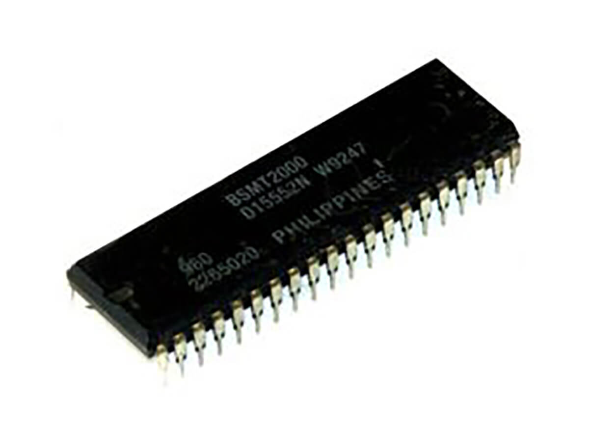 Picture of the BSNT2000, an arcade/pinball sound chip invented by Brian Schmidt
