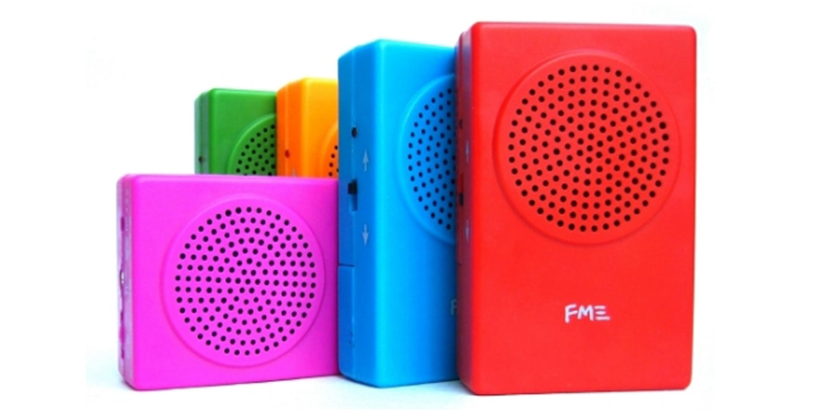 The Buddha Machine loop player looks like a small radio and comes in many bright colors