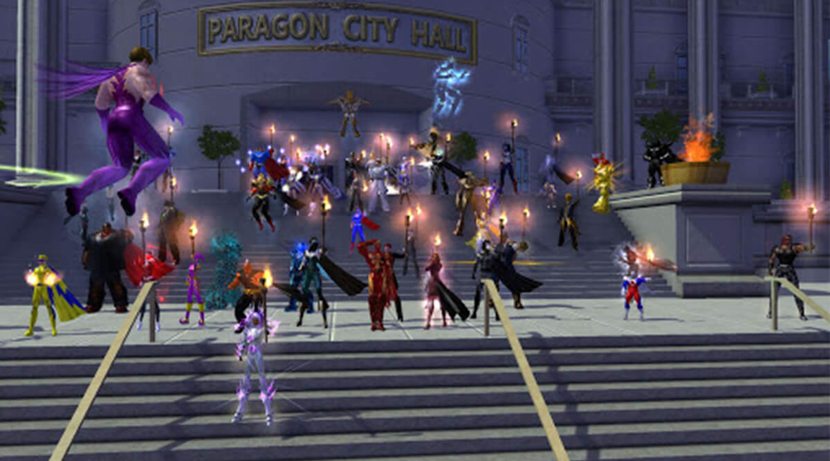 Screenshot from City of Heroes