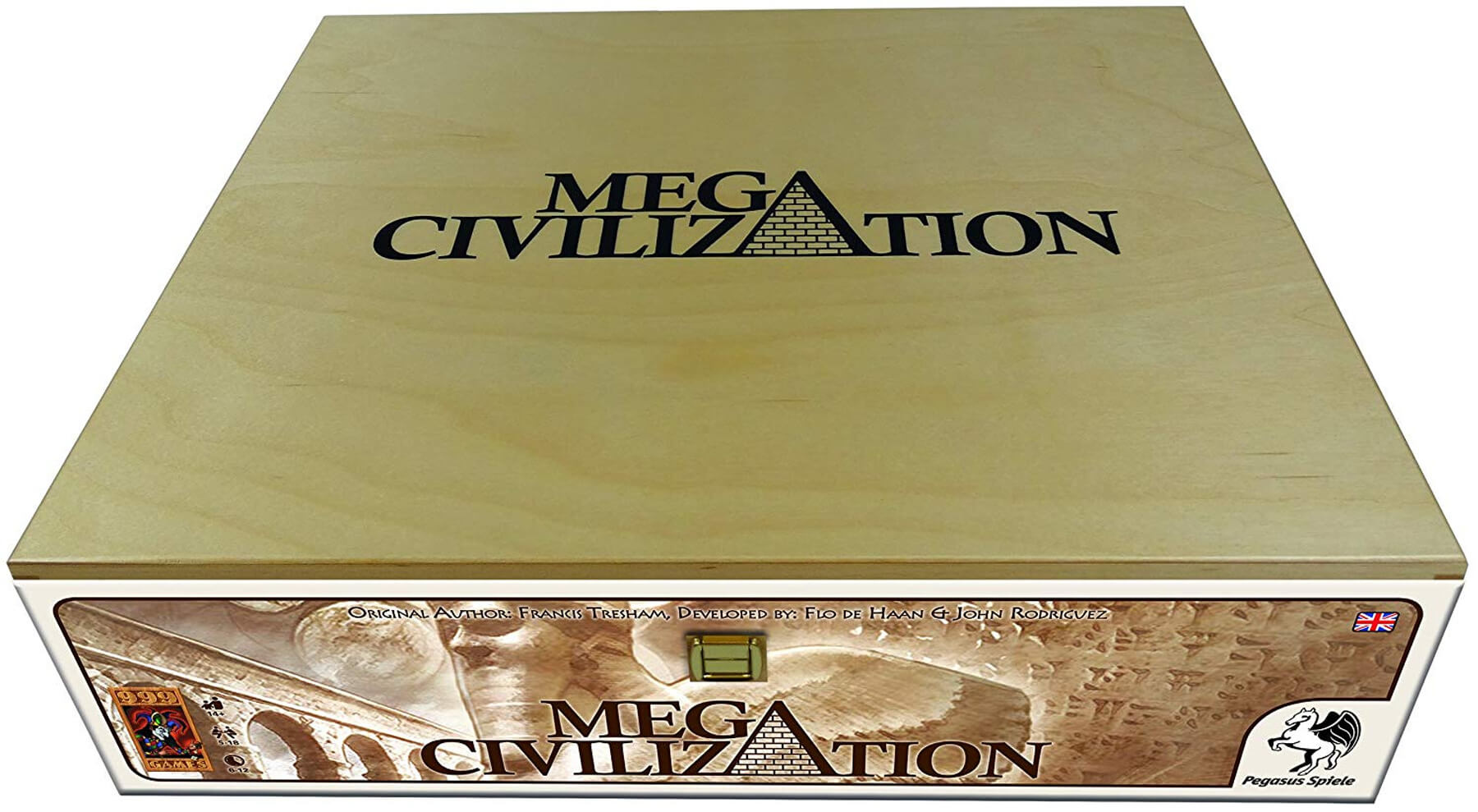 The cover art for the board game Mega Civilization.
