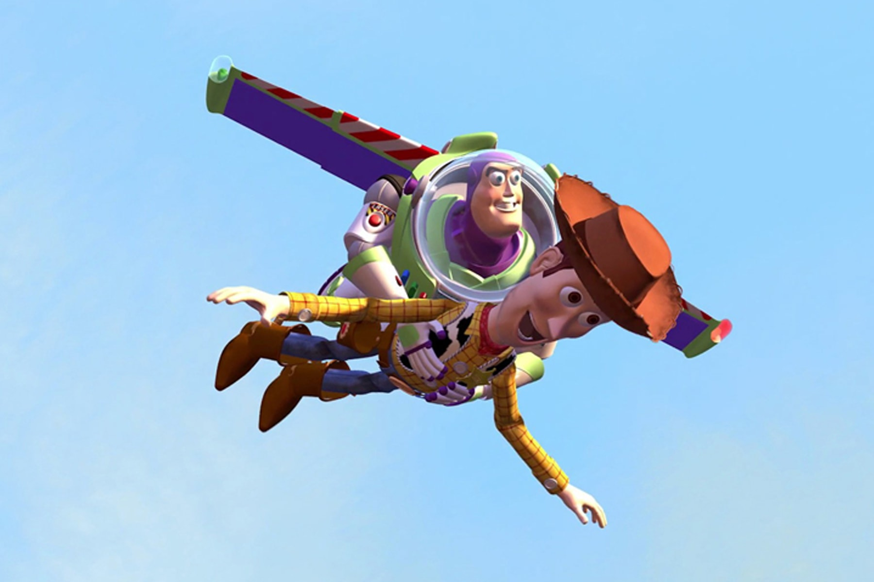 Screenshot of Woody and Buzz Lightyear in the animated film Toy Story